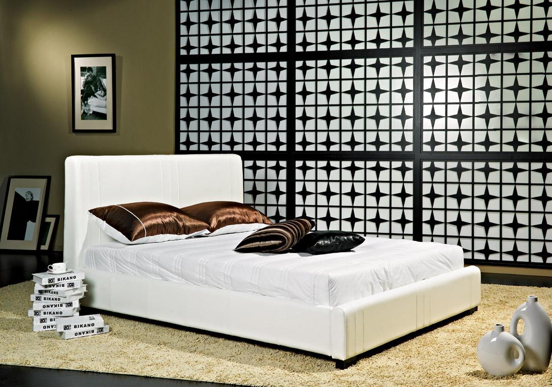 Catalina Leather Platform Bed